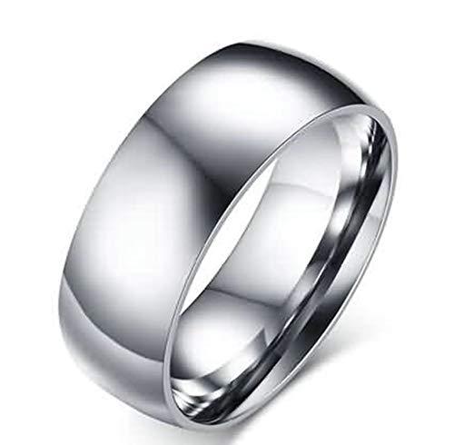 SonMo Silber 925 Ring Herren Ringe Silber Breit Damen Hochglanzpoliert Ring Siegel Damen Silber 8Mm Ringe Damen Herz für Männer 60 (19.1)