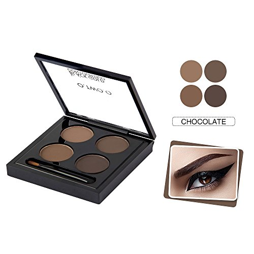 O.TWO. O 6038 série maquillage Palettes 12 pièces remodelage sourcils maquillageSmudge imperméable à l'eau preuve sourcils poudre Palette chocolat Pack de 1