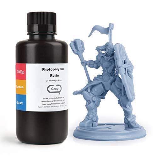 ELEGOO LCD UV 405nm ABS-Like 3D Resina Rápida para LCD Impresora 3D 1000g Fotopolímero Resina Gris