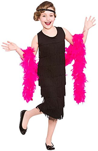 Girls Charleston Flapper Fancy Dress Up Party Costume Halloween Child Outfit (Outfits Up Dress Kids)
