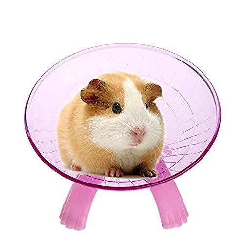 Uteruik POM-1 Laufrad für Kleintiere, geräuschloser Spinner für Haustiere, syrische Hamster, Ratte, Rennmäuse, Chinchilla, Meerschweinchen, Eichhörnchen, etc. -