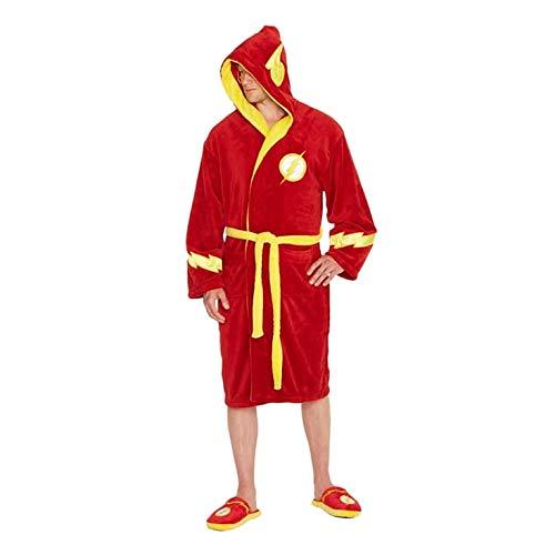 erechtigkeit Liga The Flash Logo Red Adult Dressing Gown Bademantel ()