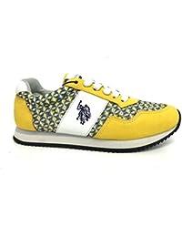 US Polo Association - Zapatillas de Piel para mujer Amarillo amarillo