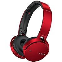 Sony MDR-XB650BT kabelloser Extra-Bass Kopfhörer (Bluetooth, NFC, weiche On-Ear Ohrpolster, hoher Tragekomfort, gute Schallisolierung) rot