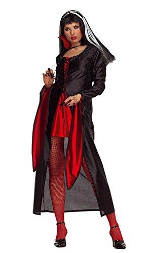 Gr. 42-44 Umhang Comtesse Vampir Cape Horror Kostüm Kleid Assassin Damen (Frauen Für Kostüm Assassin)