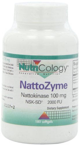 Nutricology/ Allergy Research Group Nattozyme ( Nattokinase), 180 Softgels, 100 Mg Test