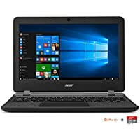 "Acer Aspire ES1-132-C7UM PC Portable 11,6"" HD Noir (Intel Celeron, 2 Go de RAM, SSD 32 Go, Intel HD Graphics, Windows 10"