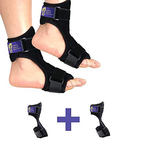 Everyday Medical Fersensporn Bandage | Fuß Orthese bei Plantarfasziitis zum Dehnen: Sprunggelenk, Knöchel, Fußgelenk & Achillessehne | Knöchelbandage, Fussbandage, Sprunggelenkbandage, Fußschiene-L/XL -