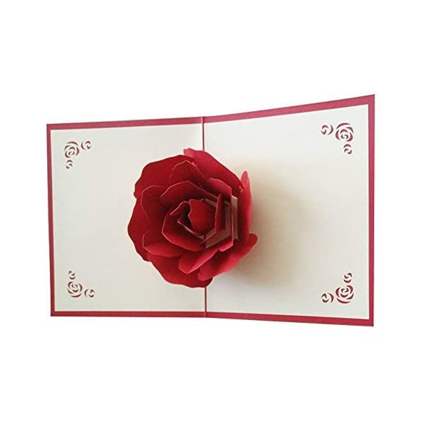 3D Pop UP Greeting Cards Fantastic Flower Handmade Gift Card for Valentine's Day Birthday Anniversary Invitation Wedding Love Gifts 41sI68omsYL