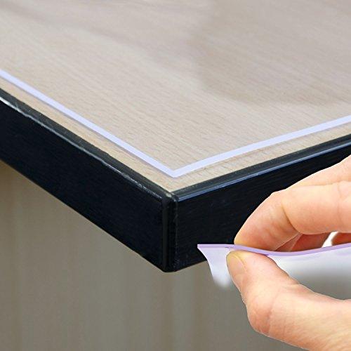 Mantel Mesa Pantalla Protector de pantalla mesa–Protector de pantalla 2mm transparente 80cm...