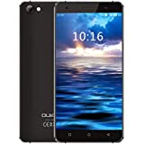 OUKITEL C5 Android 7.0 Smartphone stoßfest 5 Zoll HD Display ohne Vertrag (2GB RAM+16GB ROM, Quad-Core CPU)Schwarz