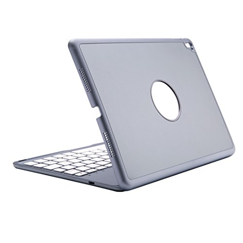 Mit Lautsprecher Ipad Air-tastatur, (Deutsch iPad Pro 9.7 Tastatur, iEGrow Ultra-Thin iPad Hülle mit 7 Farben LED-Hintergrundbeleuchtung Bluetooth-Tastatur für Apple iPad Pro 9,7 Zoll Grau [QWERTZ deutsches Tastaturlayout])