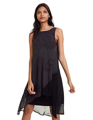 Desigual Damen Dress Keira Kleid, Schwarz (Negro 2000), (Herstellergröße: 44)