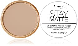 Pack of 4: Rimmel Stay Matte Pressed Powder, Transparent [001], 0.49 oz (Pack of 4)