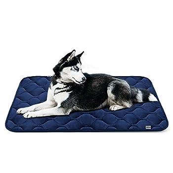 Tapis doux pour chien, Coussin de luxe et durable, Tapis antidérapant et lavable de chien Hero Dog (Bleu, grande taille)