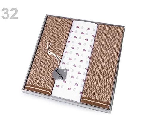 1 Box Herren Taschentücher Manager Geschenk-Box Set Herren Taschentücher Mode Accessoires 32 light brown beige -