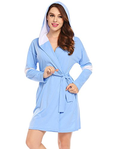 kimono damen lang baumwolle bademantel pyjama schlafanzug bade (Baumwolle Kimono Aus)