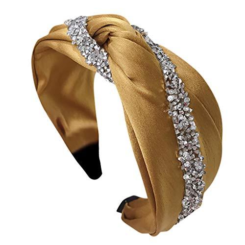 Dhyuen Pailletten Dekor Bogen Knoten Haarbänder Frauen Haar Kopf Hoop Einfache Frisur Haarschmuck Süße Mädchen Haar Stirnband - Pailletten-triangel-bh Top