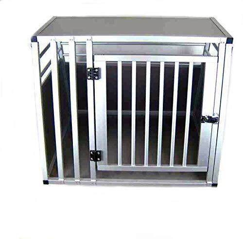 ACMax Hundebox Transportbox Aluminium 80 x 65 x 65cm Hundetransportbox Gr. M Reisebox