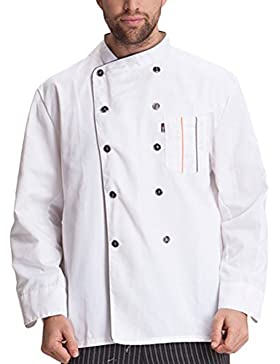 Zhhlaixing Fashion Unisex Work Clothes Modern Long Sleeve Chef Uniform