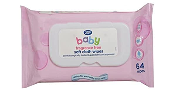 fragrance free 64 Wipes Boots Baby Soft Cloth Wipes