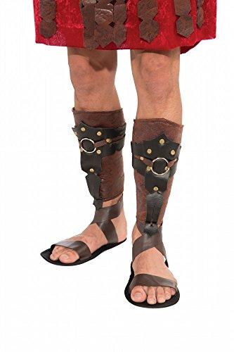 shoperama Braune Beinstulpen in Leder-Optik für Römer Gladiator Legionär Kostüm LARP