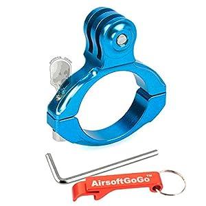 Standard Bike Aluminium Handlebar(31.8mm) Montage Adaptateur pour GoPro Hero 2 3+ (Bleu) - AirsoftGoGo Porte-cl?s Inclus