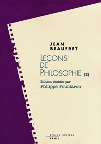 Leons de philosophie : Idalisme allemand et Philosophie contemporaine