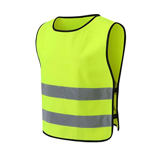 Green Laufhosen (DUOER home Reflektierende Laufhose/Warnweste für hohe Sichtbarkeit, geeignet für Laufsport Warnweste Reflektierende Streifen (Color : Fluorescent Green, Größe : XL))