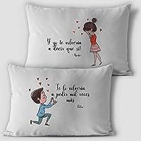 Cojines personalizados con el nombre, tamaño 50x30cm incluye relleno, regalo san valentin novios aniversario, regalos originales y únicos, ideal para decoración sofá o cama