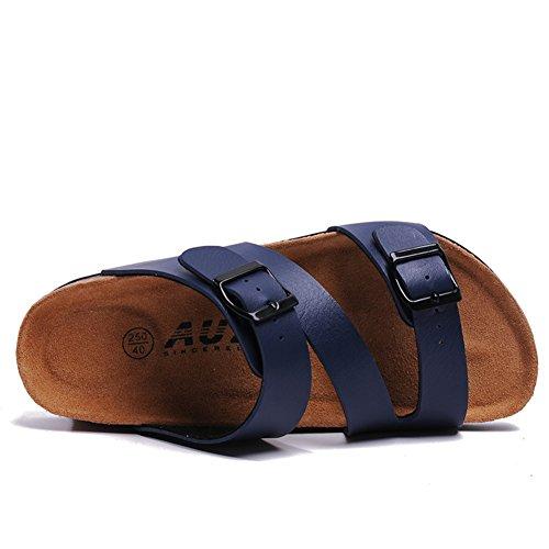 Herren Flip-flops/koreanische Version des Herren Hausschuhe/Man Kork Sandalen im Sommer grüne Liebhaber Schuhe/Anti-Rutsch hölzernen Pantoffeln und Freizeit B