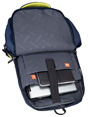 Killer Louis 38L Large Navy Blue Polyester Laptop Backpack with 3 Compartments Image 2