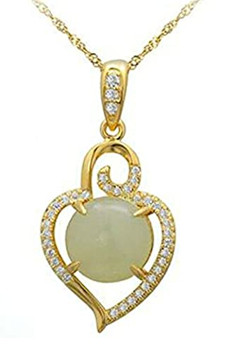 AMDXD Bijoux Argent Sterling Pendentif Colliers pour Femme Or Coeur