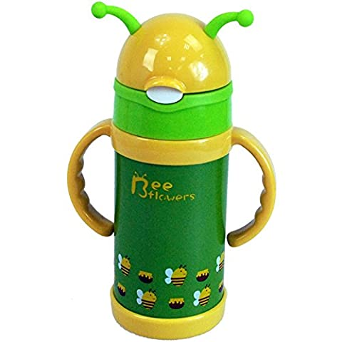 CrazyGadget® 280ML Stainless Steel Travel Mug Water Thermos Animal Kids Flask Thermal Cup Bottle (Bee