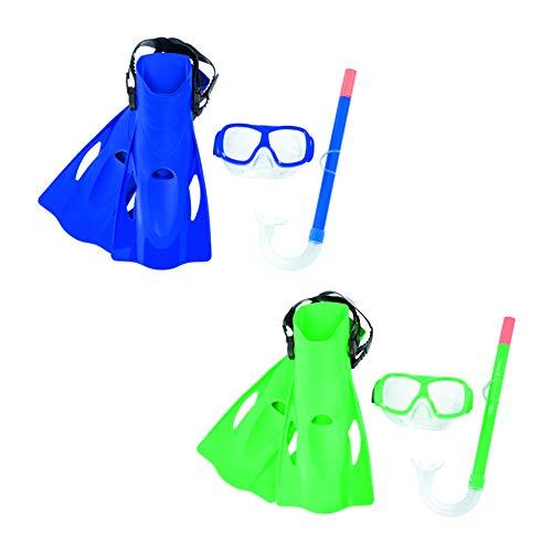 Set Gafas de Buceo + Tubo Snorkel + Aletas Bestway Surfswim