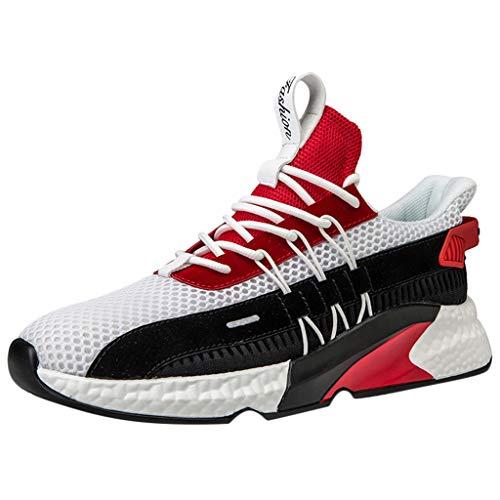 KERULA Sneaker Herren Damen Gewebte atmungsaktive Plattform Turnschuhe der Männer beschuhen im Freien Ineinander greifen beiläufige laufende Schuhe Sportschuhe Arbeitsschuhe Sommer Running