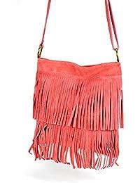 OH MY BAG Sac à Main femme en cuir à franges porté bandoulière Nouvelle Collection