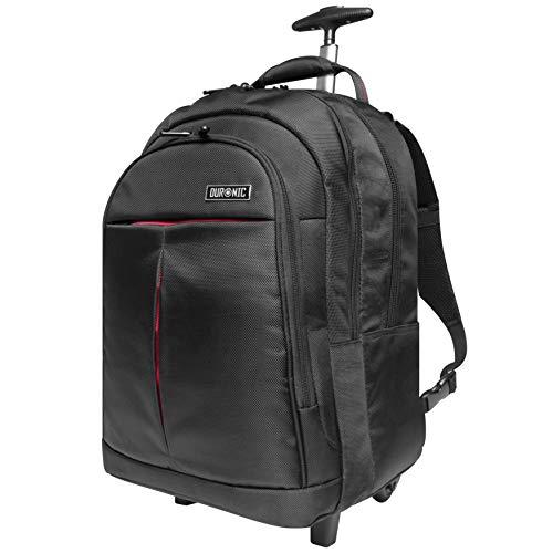 Duronic LT01 Zaino Trolley da Viaggio con rotelle per Laptop 13.3' - 15.6' Borsa Impermeabile ed Imbottita con Tasca Porta PC e Scomparto Tablet