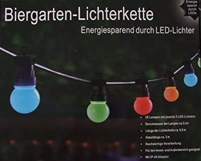 LED Biergarten Lichterkette - 20 bunte Lichter mit je 5 LEDs von Spetebo auf Lampenhans.de