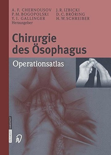 Chirurgie des sophagus: Operationsatlas (German Edition) by Unknown(2013-06-19)