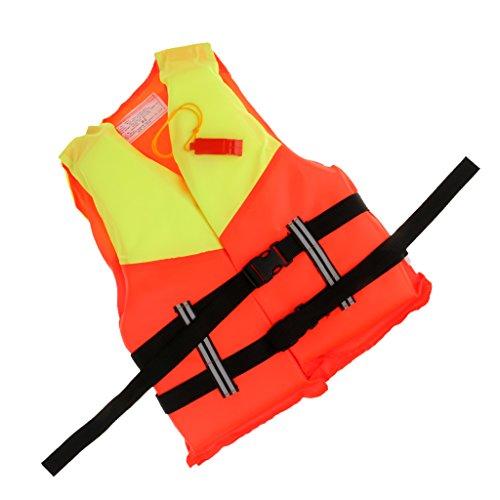 Dual- Auffällige Farbe, Einheitsgröße Rettungsweste / Schwimmweste mit Signalpfeife, Wassersport Sicherheitsweste