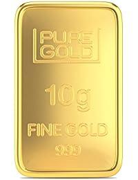 Joyalukkas Assayer Certified 10 grams 24k (999) Yellow Gold Precious Gold Bar