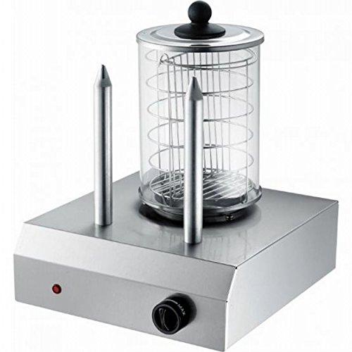 Syntrox Hot Dog Maker Gerät Erhitzer mit 2 Spießen Wurstkocher Würstchenwärmer Bockwurstwärmer