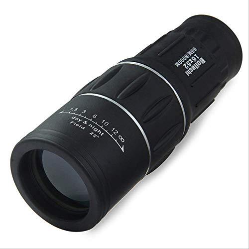 Wyjs Telescopio 16 X 52 Telescopio De Manchado Monocular De Doble Enfoque Zoom Lente Óptica Lentes De Recubrimiento Binocular Alcance Óptico De Caza Clip para Teléfono Estados Unidos Negro