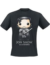 T-shirt Game of Thrones Pop Art Jon Snow noir