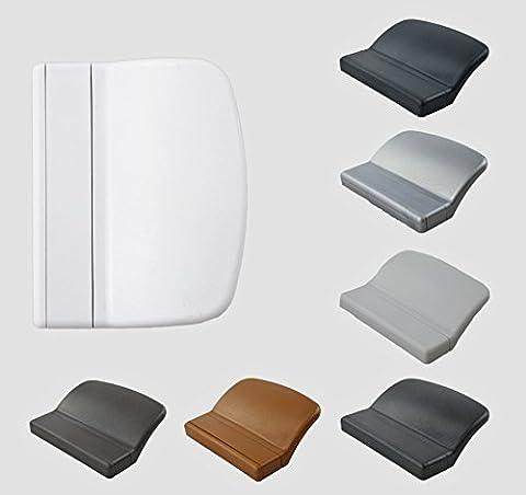 MS Beschläge® Balkontürgriff Terassentürgriff Ziehgriff aus Kunststoff in verschiedenen Farben (Weiß - RAL 9016)
