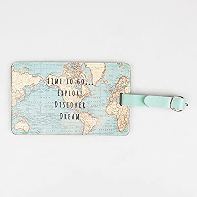 Sass & Belle Vintage World Map Luggage Tag - inexpensive UK light store.