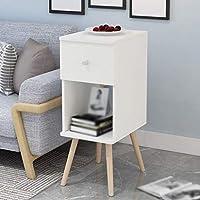 Eeayyygch Mesillas de Noche de Muebles de Madera Maciza Armario de ángulo de Almacenamiento de Dormitorio de Simplicidad Moderna (Color: # 002) (Color : Blanco, tamaño : -) - Muebles de Dormitorio precios