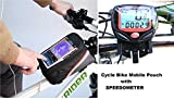 #2: Gubbarey Combo Offer : Cycling Bike Frame Bag Tube Pouch for Smartphones/Cellphone Mobiles with 14 Function Waterproof Bicycle Digital Computer/Odometer / Speedometer
