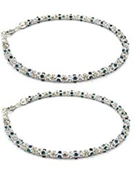 KUKSHYA 925 Sterling Silver Royal Look Payal (Anklet) For Women/Girls